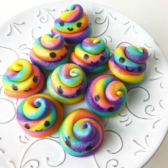 Shimmer Rainbow Unicorn Poop Candy Happy Edible Delicious