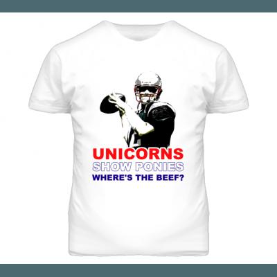 Shirt Brady Unicorns Show Ponies Wheres The Beef New England