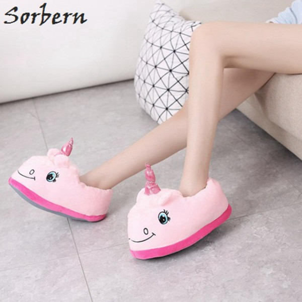 Sorbern Hot Sale Cartoon Home Slipper Unicornio Causal Style