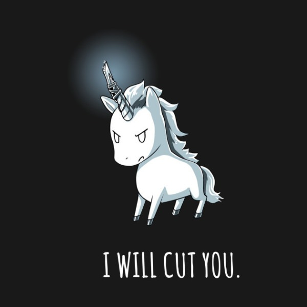 Stabby The Unicorn I Will Cut You Standa