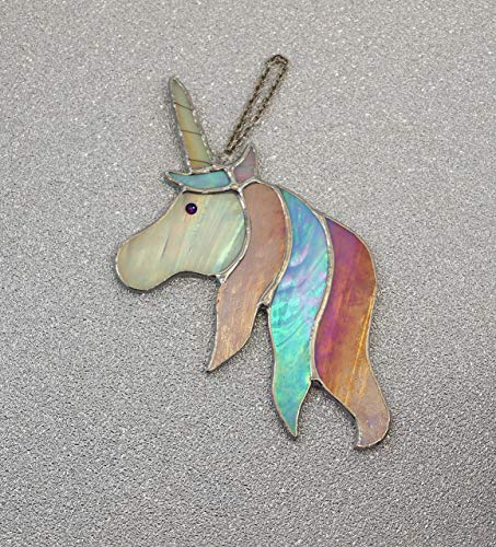 Swarovski Crystal Stained Glass Unicorn Gift Home Decor Gift For