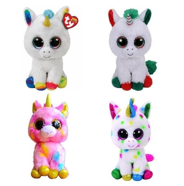 Ty Beanie Boos 6  Pegasus Pixy Fantasia Candy Cane Harmonie Blitz