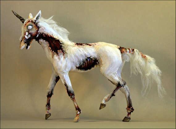 Undead Unicorn Artwork   Zombie Sculptures