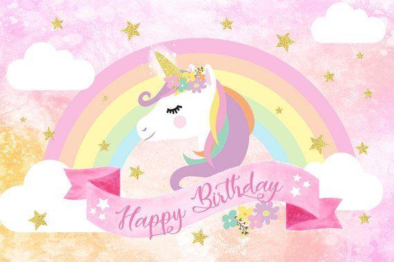 Unicorn Backdrop, Unicorn Birthday Banner, Unicorn Party