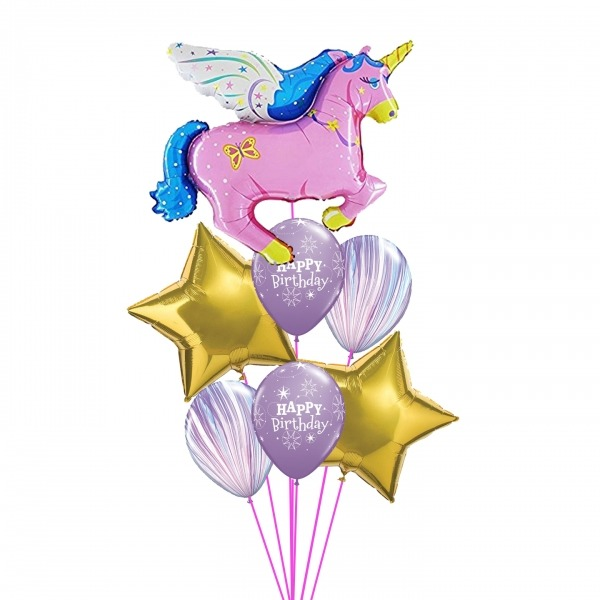 Unicorn Balloon Bouquet Balloons Vancouver Jc Balloon Studio