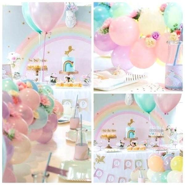 Unicorn Birthday Decorations Pink Decoration Invitation Rainbow