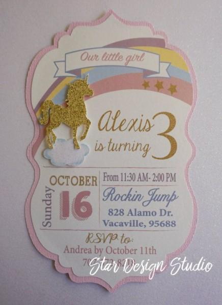 Unicorn Birthday Invitation Handmade By Stardesignstudio On Etsy