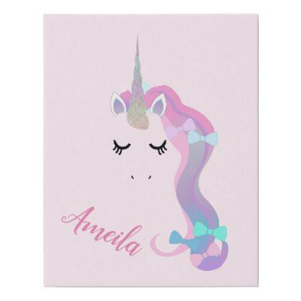 Unicorn Canvas (add Your Name)