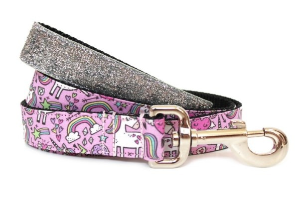 Unicorn Dog Leash 1 Glitter Dog Leash