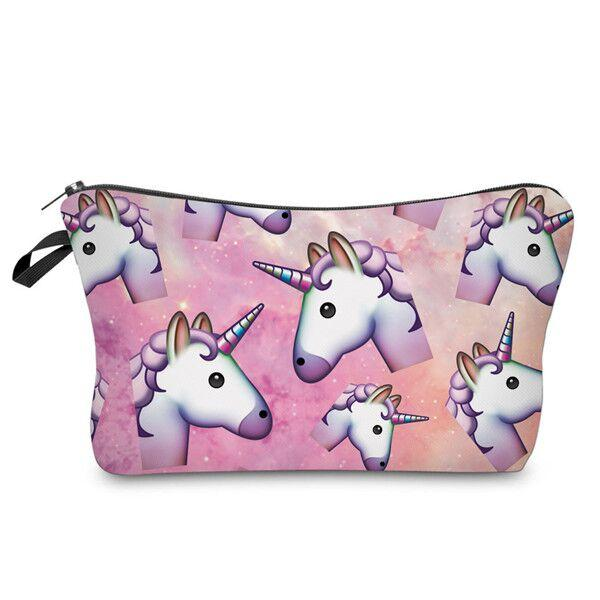 Unicorn Emoji Lightweight Travel Cosmetic Pouch