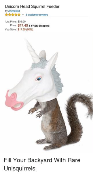 Unicorn Head Squirrel Feeder By Animewild   6 Customer Reviews