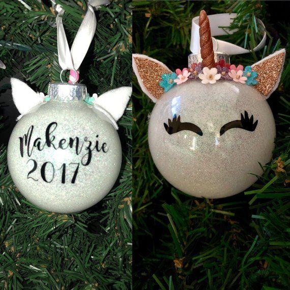 Unicorn Ornament, Personalized, Christmas Ornament, Unicorn