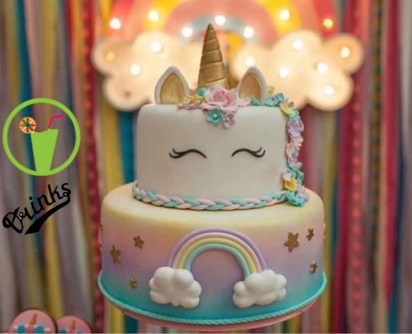 Unicorn Party Cake Gold