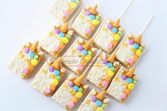 Unicorn Party Unicorn Birthday Favors Unicorn Rice Krispie