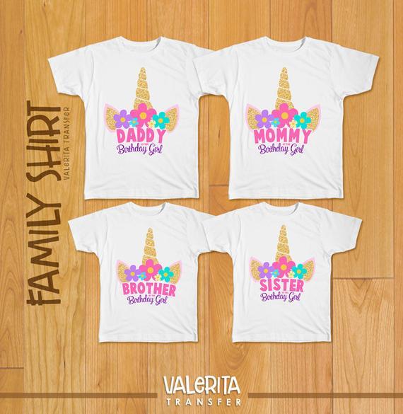 Unicorn Party Unicorn Family Shirt Unicorn Shirt Unicorn