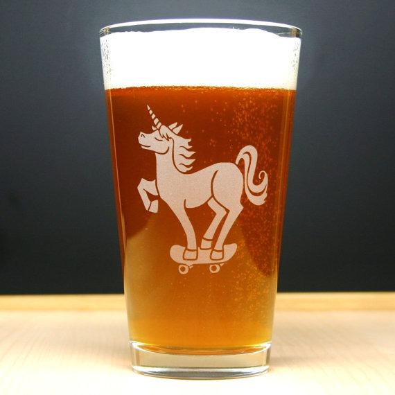 Unicorn Pint Glass
