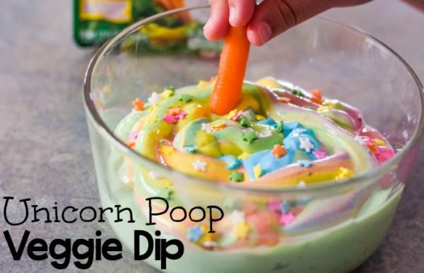 Unicorn Poop Veggie Dip