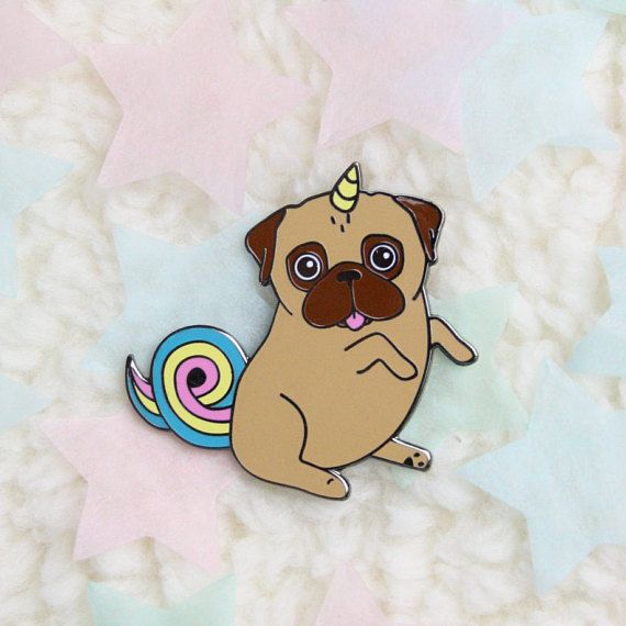 Unicorn Pug Pin