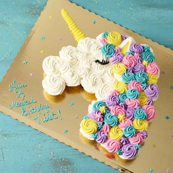 Unicorn Pull A Part Cupcakes 25 Count   Publix Com