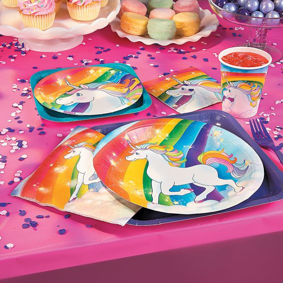 Unicorn Rainbow Party Pack For 8 Party Supplies Canada