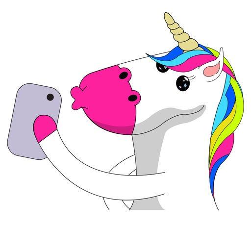 Unicorn Stickers Animated Fluffy Unicorn Emojis By Luciano Sirmo