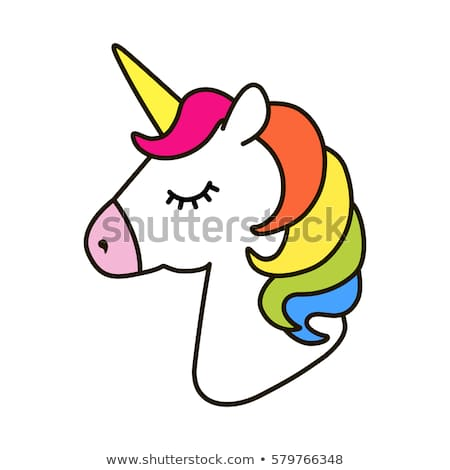 Unicorn Vector Icon Isolated On White Stock Vector (royalty Free