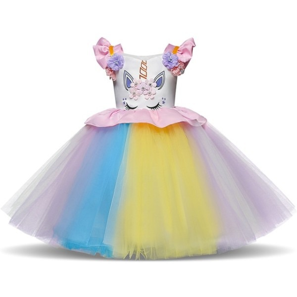 Unicornio Dress For Fancy Party Girl Birthday Outfits Kids Unicorn