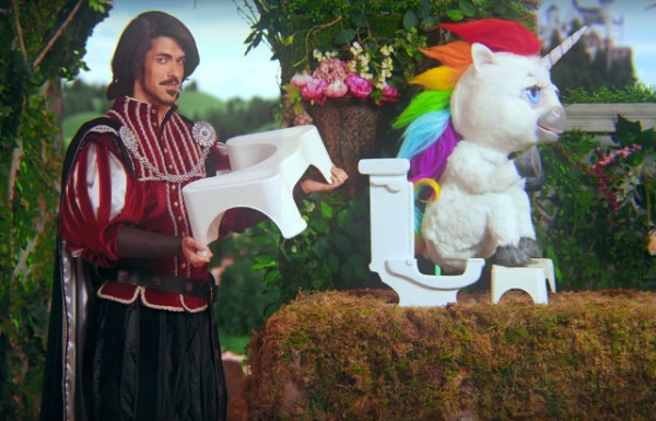 Unicorns Poop Ice Cream Toilet Footstool Commercial