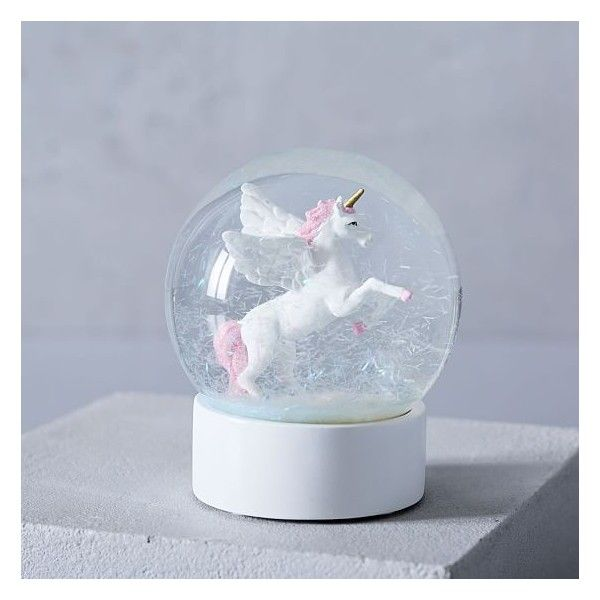 West Elm Unicorn Snow Globe ($24) ❤ Liked On Polyvore Featuring