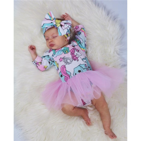 0 18m Fancy Baby Girl Dress Little Unicorn Dress Halloween Costume