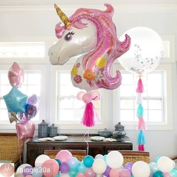 117 87cm Large Birthday Balloons For Baby Shower Favors Pink