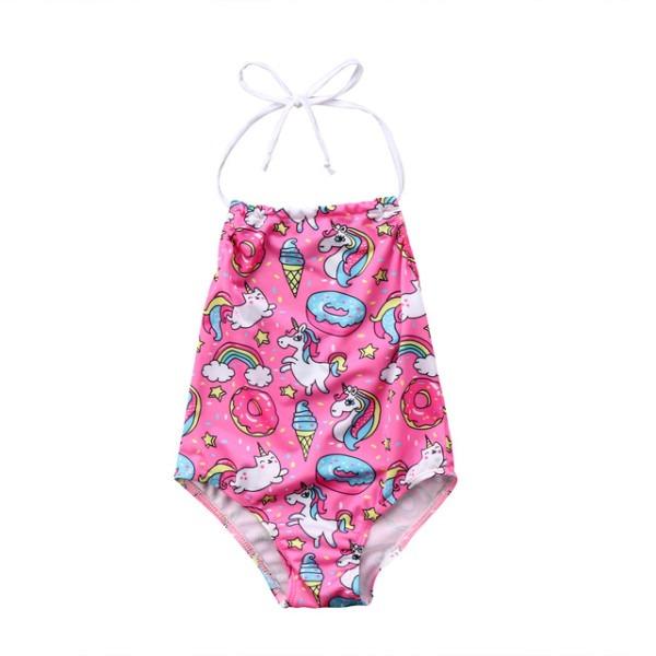 2018 Unicorn Baby Swimsuit Bathing Bikini Kids Girls Rainbow