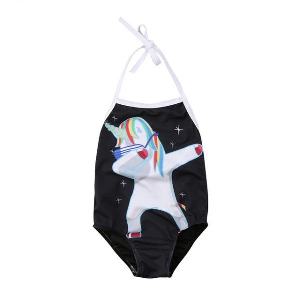 2018 Unicorn One Piece Swimsuit Toddler Kids Baby Girls Bikini
