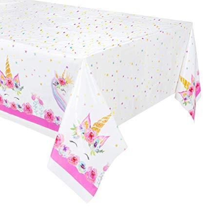 Amazon Com  2pk Larger Size Unicorn Plastic Table Cover,disposable