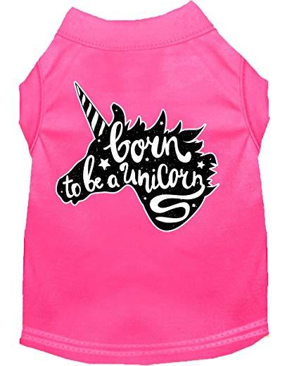 Amazon Com   Born To Be A Unicorn Screen Print Dog Shirt Bright
