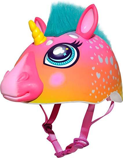 Amazon Com   Raskullz Super Rainbow Corn Hair Helmet, Dark Pink