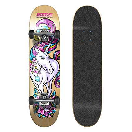Amazon Com   Skatexs Beginner Unicorn Girls Skateboard   Sports