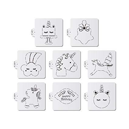 Amazon Com  Ak Art Kitchenware Unicorn Cake Stencils Cookie