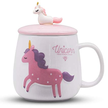 Amazon Com  Angelice Home 12 Oz Cute Unicorn Mug With 3d Baby