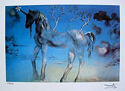 Amazon Com  Art By Salvador Dali The Happy Unicorn Facsimile