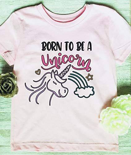 Amazon Com  Born To Be A Unicorn, Unicorn Shirt, Toddler Youth