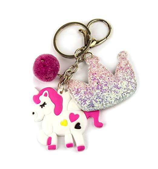 Amazon Com  Lux Accessories Goldtone Glitter Pastel Pink Unicorn