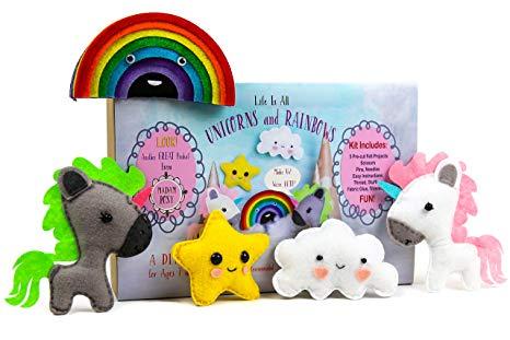 Amazon Com  Madam Posy Design Rainbows And Unicorns Stuffed Animal