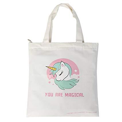 Amazon Com  Natural Cotton Heavy Canvas Unicorn Tote Bag 16 Oz