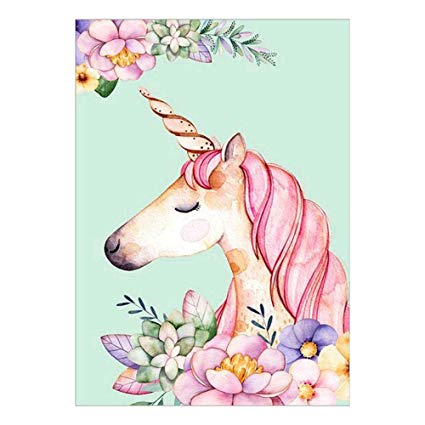 Amazon Com  Pink Unicorn 5d Diamond Painting Crystals Embroidery