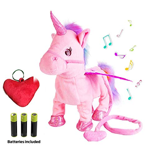 Amazon Com  Plush Unicorn Toy Toys For Girls Electric Pink Pet W