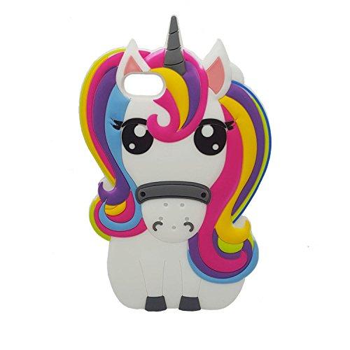 Amazon Com  Rainbow Unicorn Iphone 7 7g Case,iphone 8 Case, Xinsir