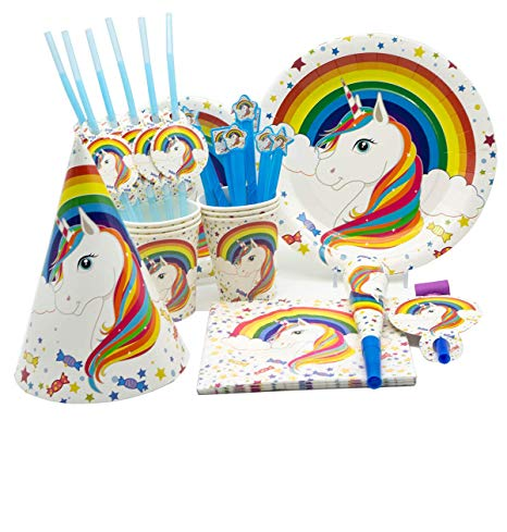 Amazon Com  Rainbow Unicorn Party Supplies By Party Girl Kim