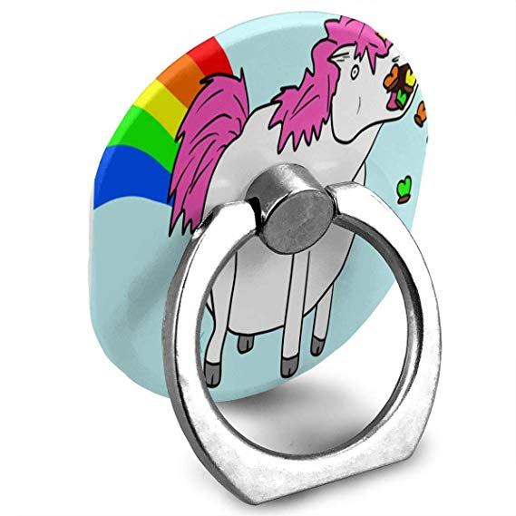 Amazon Com  Ring Holder Fat Unicorn Eating Rainbow Ring Cell Phone