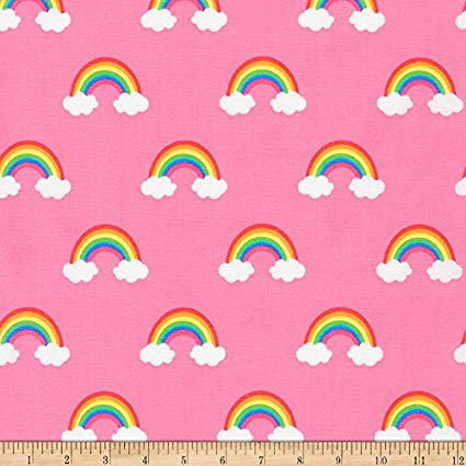 Amazon Com  Robert Kaufman Kaufman Happy Little Unicorns Rainbows